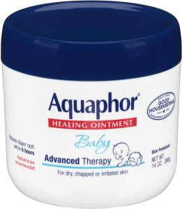 Aquaphor healing ointment works not just for diaper rashes, but for new tattoos as well