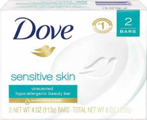 picture of dove unscented soap which is one of the best tattoo soaps in the market right now