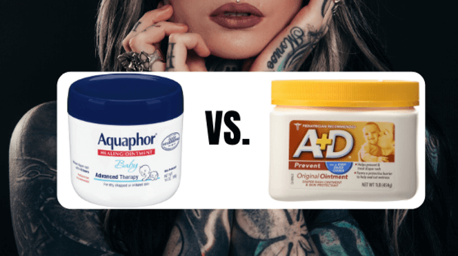 aquaphor vs a+d ointment graphic